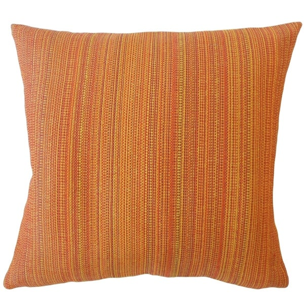 Thanh Striped Down Filled Throw Pillow in Sunset