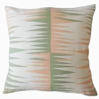 Gadge Geometric Down Filled Throw Pillow in Sundown