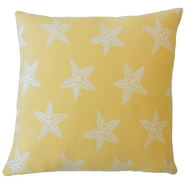 Wilf Coastal Down Filled Throw Pillow in Sunshine