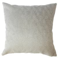 Nuri Solid Down Filled Throw Pillow in Stone