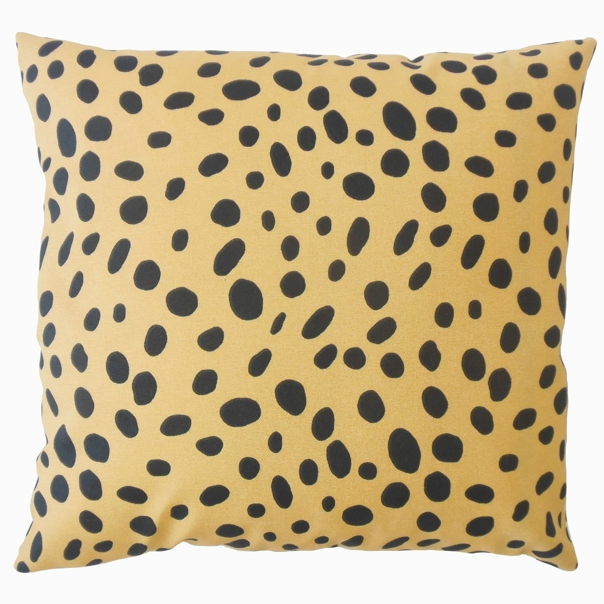 Ibson Polka Dot Down Filled Throw Pillow in Tan (Square - 18 x 18)