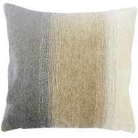 Vasska Ombre Down Filled Throw Pillow in Charcoal