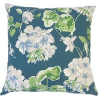 Kaelin Floral Down Filled Throw Pillow in Lagoon