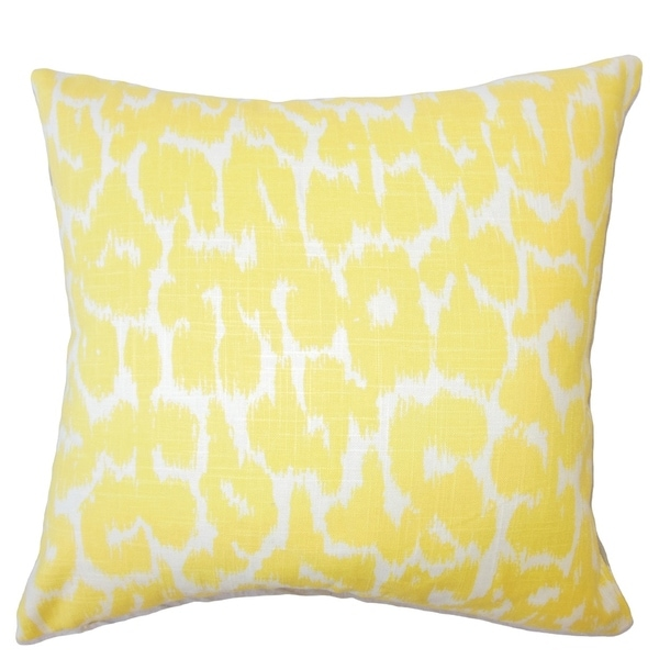Ollyn Ikat Down Filled Throw Pillow in Buttercup