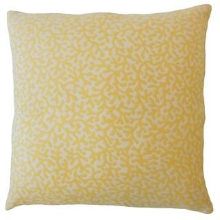 Verena Coastal Down Filled Throw Pillow in Sunshine