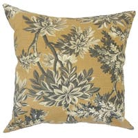 Zafirah Floral Down Filled Throw Pillow in Amber