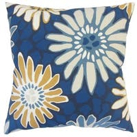 Sabeen Floral Down Filled Throw Pillow in Indigo