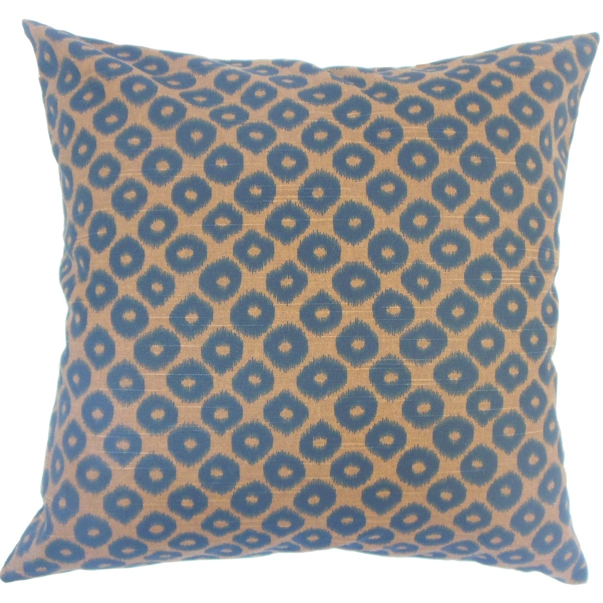 Alikae Ikat Down Filled Throw Pillow in Chocolate (Square - 22 x 22)