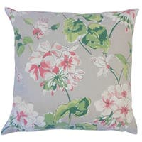 Kaelin Floral Down Filled Throw Pillow in Celadon