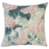 Quinta Floral Down Filled Throw Pillow in Oyster