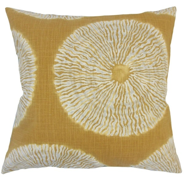 Talmai Ikat Down Filled Throw Pillow in Amber