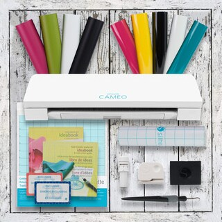 Silhouette Cameo 3 Bluetooth Die Cutting Machine Vinyl & Heat Transfer Starter Kit Bundle|https://ak1.ostkcdn.com/images/products/18075561/P24236386.jpg?_ostk_perf_=percv&impolicy=medium