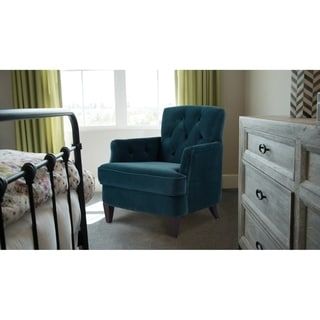 """Jennifer Taylor Kelly Tufted Accent Chair - 31""""LX34.5""""WX33.5""""H"""