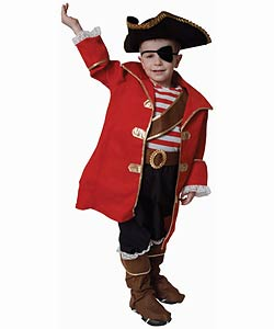Deluxe Pirate Dress Up Set (Size 2-18)