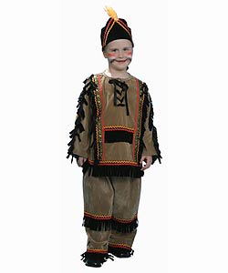 Deluxe Children's Indian Boy Dress Up Set (Size 2-18)