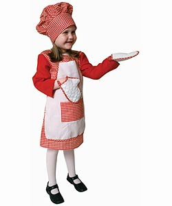 Girl's Red Chef Dress-up Set (Size 2-18)