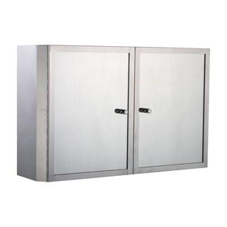 HomCom Horizontal 20 Stainless Steel Floating Bathroom Wall Mirror Double Door Medicine Cabinet