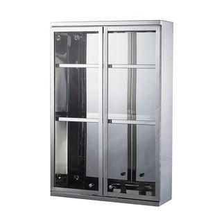 """HomCom 24"""" x 16"""" Stainless Steel Double Door Display Wall Cabinet"""