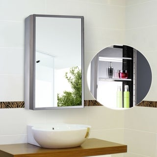 Stainless Steel Medicine Cabinet Bathroom Mirror With Shelves