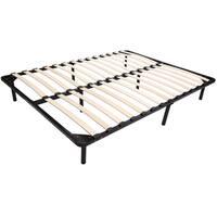 HomCom Queen Size Torsion Arched Wood Slat Platform Bed Frame