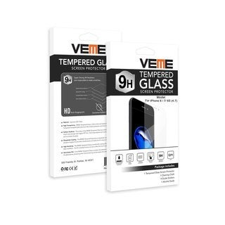 VEME Tempered Glass Screen Protector For Apple iPhone 8, 7, 6s, 8 Plus, 7 Plus, 6s Plus