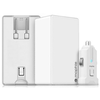 mophie Dual USB Port High Powered 4.2A Wall Charger with Detachable USB Port for Car