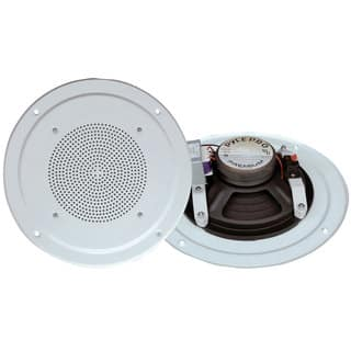Pyle PDICS54 5'' Full Range In Ceiling Speaker System W/Transformer, White- 2 Units|https://ak1.ostkcdn.com/images/products/18076607/P24237737.jpg?impolicy=medium
