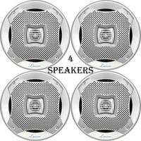 Lanzar 400 Watts 5.25'' 2-Way Marine Speakers (Silver Color) 2 Pairs