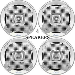 Lanzar 400 Watts 5.25'' 2-Way Marine Speakers (Silver Color) 2 Pairs