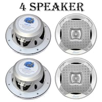 Lanzar AQ6CXS-2 400 Watts 6.5'' 2-Way Marine Speakers (Silver) 2 Pack