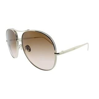 Chloe Aviator CE 127S 743 Women Gold Frame Brown Lens Sunglasses