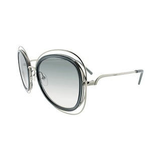 Chloe Fashion CE 123S 731 Women Transparent Grey Frame Grey Lens Sunglasses