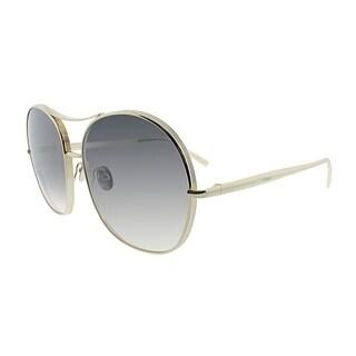 Chloe Aviator CE 128S 744 Women Gold Frame Grey Lens Sunglasses