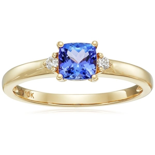 sapphire with round diamond style ring antique blue engagement accent rings cut accents