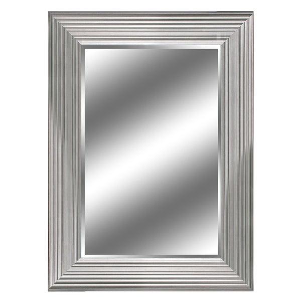 24 X 36 Silver Woodgrain Mirror 1 Bevel