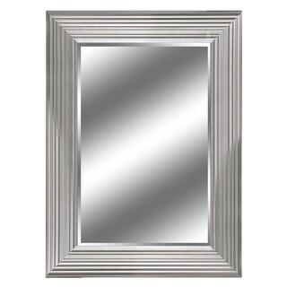 "24"" X 36"" Silver Woodgrain Mirror 1"" Bevel with 5"" frame"