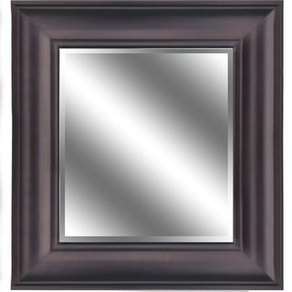 """REFLECTION 23"""" x 27"""" 1"""" Bevel Mirror 5"""" Oil Rubbed Bronze color frame"""
