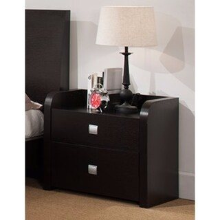 Beautiful Nightstand With 2 Storage Drawers, Brown.