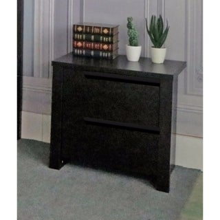 Modern Style Brown Finish Nightstand With 2 Drawers