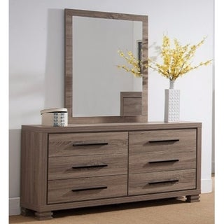 Well Crafted Marvelous Mirror With Wooden Frame. - gray
