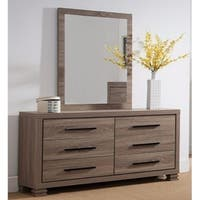 Well Crafted Marvelous Mirror With Wooden Frame. - Grey