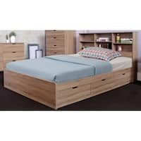 Benzara Luxurious Brown Finish Wood 3-drawer Chest Bed