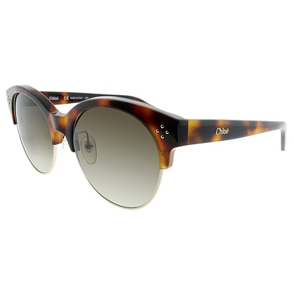 4258eb64d51 Chloe Fashion CE 704S 218 Women Havana and Black Frame Brown Lens Sunglasses