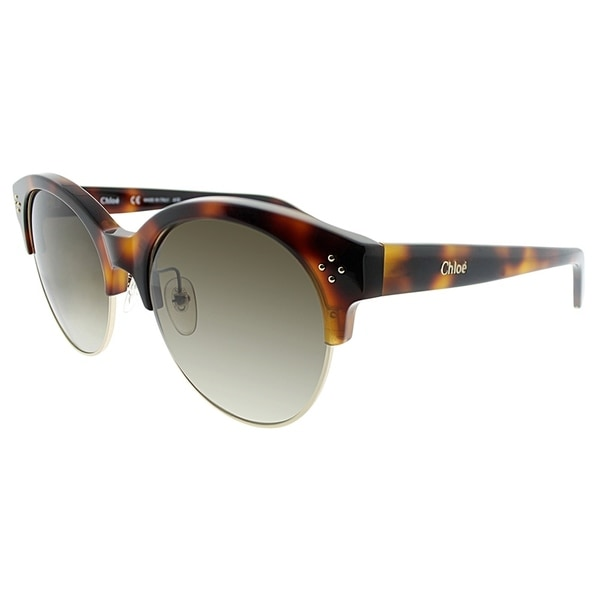 838d6abf122 Chloe Fashion CE 704S 218 Women Havana and Black Frame Brown Lens Sunglasses