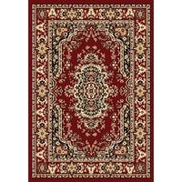 Chelsea Collection Red Traditional Persian Area Rug (5'2 x 7'2)