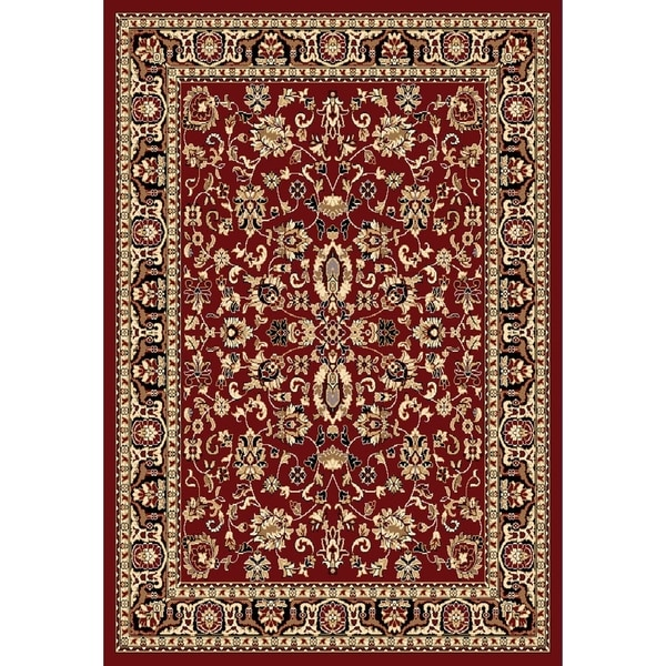 "Chelsea Traditional Oriental Red Area Rug - 5'2"" x 7'2"""