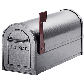 Heavy-duty Rural Pewter Mailbox (As Is Item)