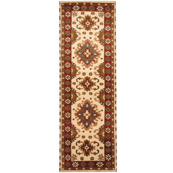 Handmade Kazak Wool Runner (India) - 2'10 x 8'4