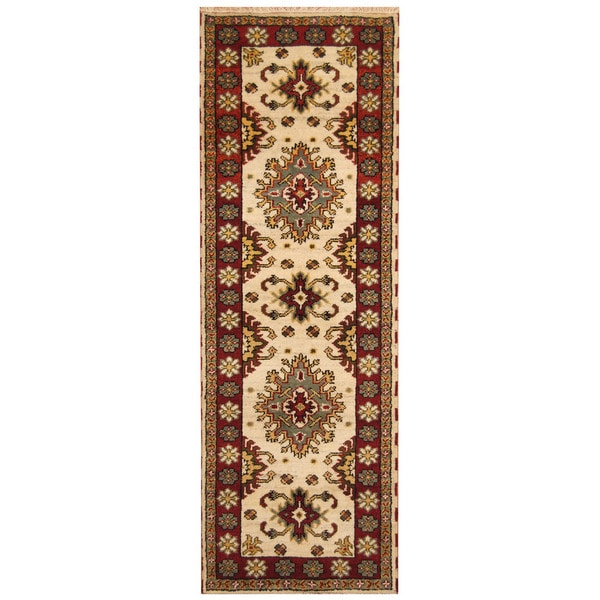 Handmade Kazak Wool Runner (India) - 2'9 x 8'2