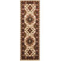 Handmade Herat Oriental Indo Hand-knotted Tribal Kazak Wool Runner - 2'8 x 8'5